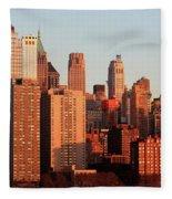 Gratte Ciel Manhattan Usa Fleece Blanket