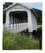 Grave Creek Bridge Fleece Blanket