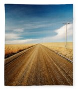 Gravel Lines Fleece Blanket