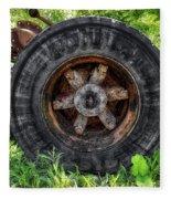 Gravel Pit Goodyear Truck Tire Fleece Blanket