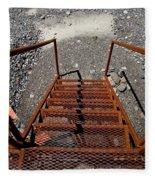 Gravel Pit Grinder Rusty Staircase Fleece Blanket