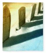 Gravestones In Winter Fleece Blanket