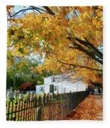 Graveyard In Autumn Fleece Blanket