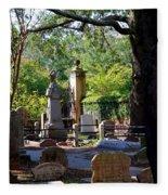 Graveyard In Charleston Fleece Blanket