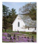 Graveyard Phlox Country Church Fleece Blanket