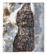 Gray Bark Abstract Fleece Blanket