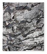 Gray Bark Fleece Blanket