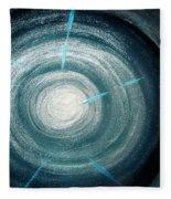 Gray-blue Star. Sparkling Light Fleece Blanket