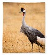 Gray Crowned Crane Fleece Blanket