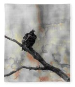 Gray Day Vulture Fleece Blanket