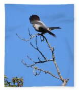 Gray Hawk Retreat Fleece Blanket