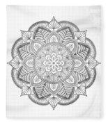 Gray Mandala Fleece Blanket