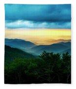 Gray Mountain Fleece Blanket