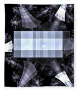 Gray Towers Fleece Blanket