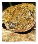 Gray Tree Frog Horizontal Fleece Blanket