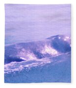 Gray Whale  Fleece Blanket