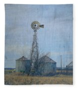 Gray Windmill 2 Fleece Blanket