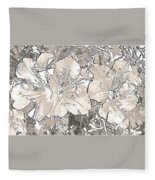 Grayscale Bevy Of Beauties With Sepia Tones Fleece Blanket