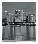 Grayscale By The River 2017 Fleece Blanket