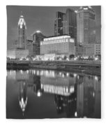 Grayscale Columbus Fleece Blanket