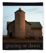 Grazing At Dawn Fleece Blanket