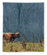 Grazing In Winter Fleece Blanket