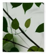 Green Leaves 2 Fleece Blanket