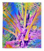 Great Abaco Palm Fleece Blanket