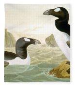 Great Auk (alka Impennis): Fleece Blanket