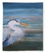 Great Blue Heron Fleece Blanket