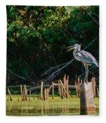 Great Blue Heron Mouth Fleece Blanket