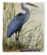 Great Blue Heron Splendor Fleece Blanket