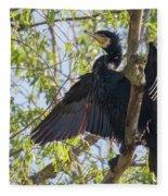 Great Cormorant - High In The Tree Fleece Blanket