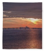 Great Egg Harbor Ocean City New Jersey Fleece Blanket