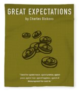 Great Expectations By Charles Dickens Greatest Books Ever Series 023 Fleece Blanket