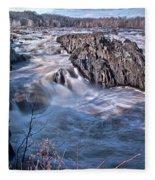 Great Falls Virginia Fleece Blanket
