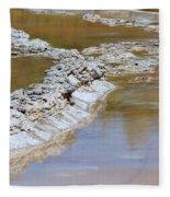 Great Fountain Geyser Firehole Lake Drive Fleece Blanket