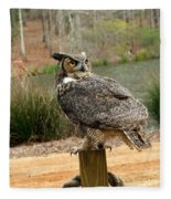 Great Horned Owl 1 Fleece Blanket