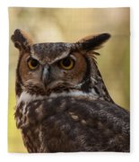 Great Horned Owl In A Tree 1 Fleece Blanket