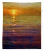 Great Lakes Setting Sun Fleece Blanket