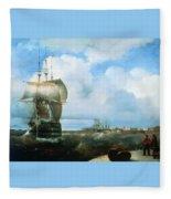 Great Roads At Kronstadt In 1836 715 H93 Ivan Konstantinovich Aivazovsky Fleece Blanket