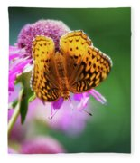 Great Spangled Fritillary Butterfly Fleece Blanket