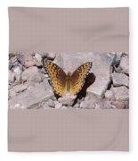 Great Spangled Fritillary Fleece Blanket