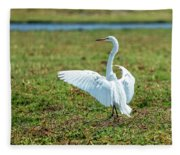Great White Egret Ahoy Fleece Blanket