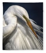 Great White Egret Print One Fleece Blanket