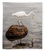Great White Heron Fleece Blanket