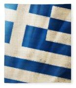Greece Flag Fleece Blanket