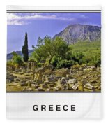 Greece Fleece Blanket