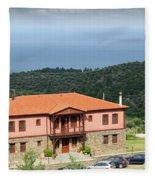 Greece Summer Vacation Landscape Fleece Blanket