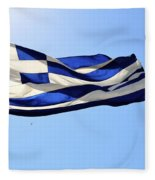 Greek Flag Fleece Blanket